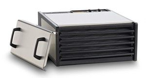 Stainless Steel Excalibur 5 Tray Dehydrator w/Plastic Trays - D5
