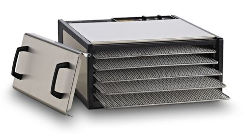 Stainless Steel Excalibur 5 Tray Dehydrator w/SS Trays - D500SHD
