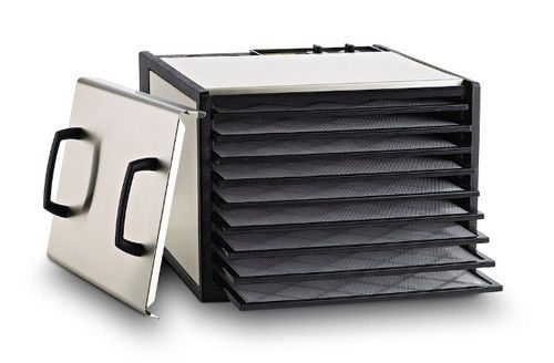 Stainless Steel Excalibur 9 Tray Dehydrator w/Plastic Trays - D9